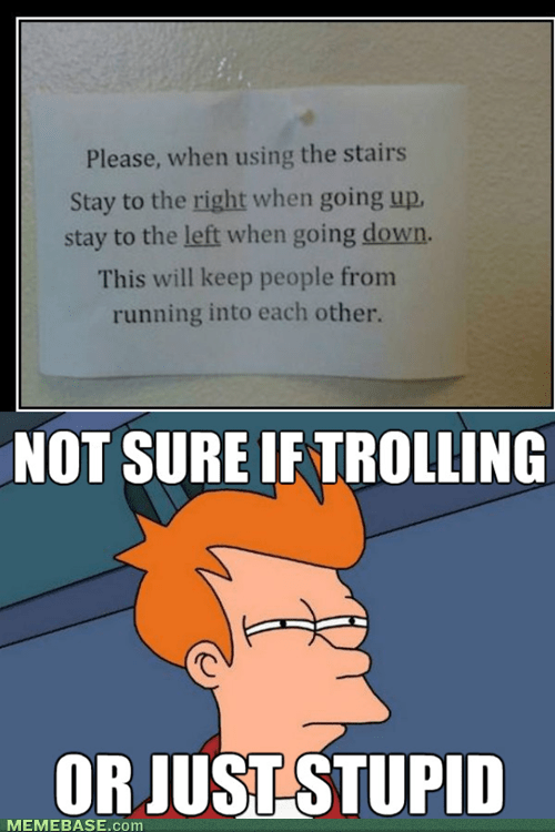 not sure if,signs,stairs,Futurama Fry