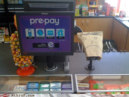 checkout stands,prepay