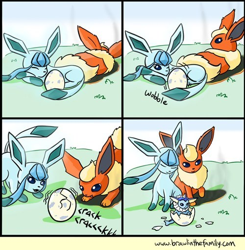 eeveelutions brawl in the family eggs comics breeding - 7167789568