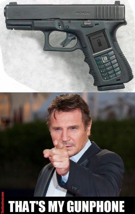 guns phones liam neeson - 7167989504