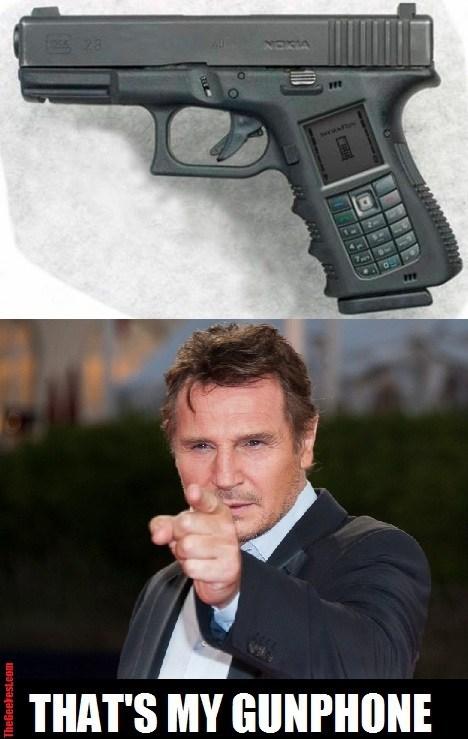 guns phones liam neeson - 7167989504