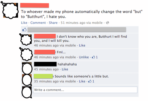 butt autocorrected not over butthurt - 7168024576