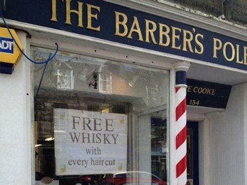 barber shop whiskey simple times
