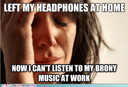 Music Bronies Memes headphones - 7168259072