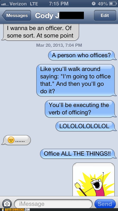 offices iPhones not amused verbs g rated AutocoWrecks - 7168328192