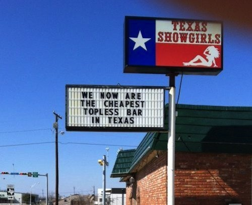 signs,strip clubs,texas