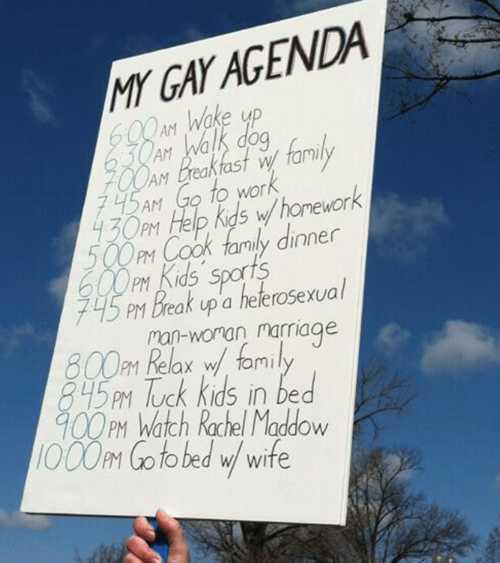 lgbtq sign Protest agenda demonstration
