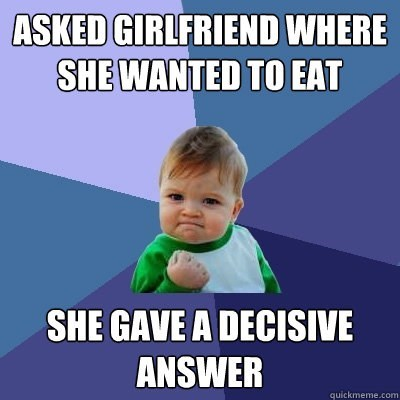 success kid eating decisive women - 7168624128