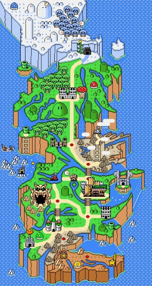 crossover,Game of Thrones,Fan Art,video games,Super Mario bros