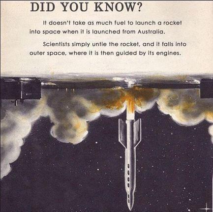 australia rockets upside down