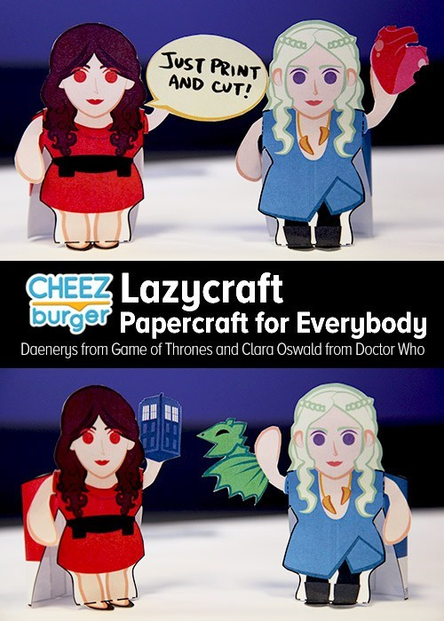 Game of Thrones,cheezburger original,doctor who,papercraft,lazycraft