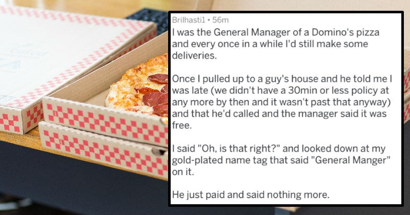 stories of people not getting into less than ideal situations after speaking to the manager