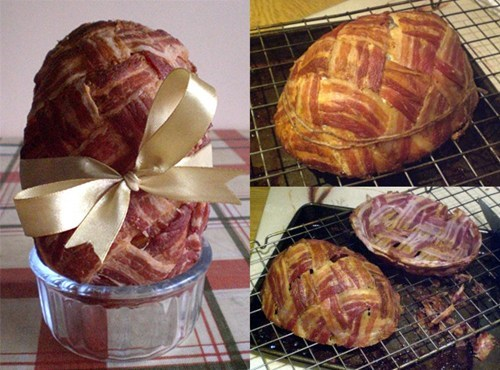 easter egg food bacon