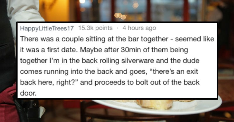 waiters share awkward dates they have seen