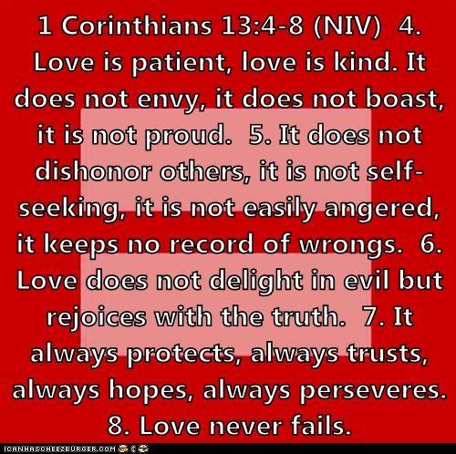 1 corinthians 13 4 8 niv 4 love is patient love is kind it does