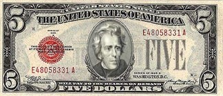 jackson 5 five dollars Andrew Jackson - 7169676288