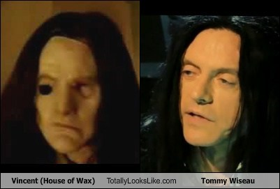 tommy wiseau the room totally looks like house of wax