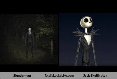 jack skellington,totally looks like,slenderman