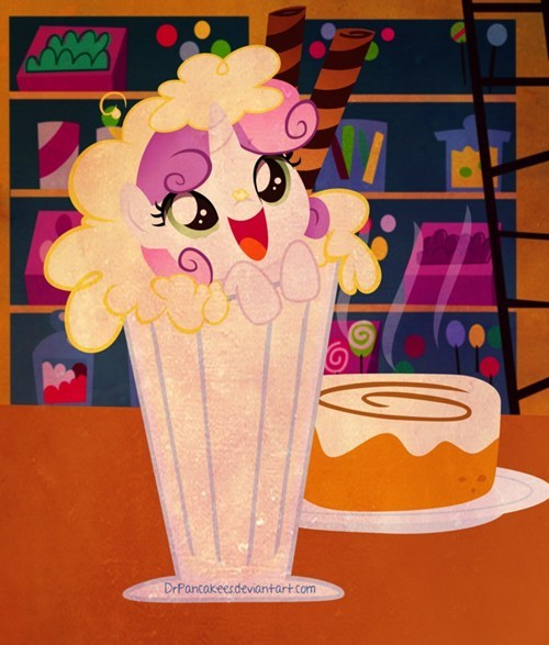 art Sweetie Belle hnnng milkshake - 7170475008