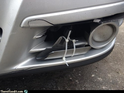 zip ties headlights car repairs