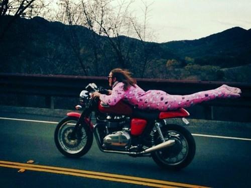 motorcycles,pink,pajamas
