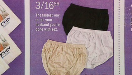 advertising honest granny panties