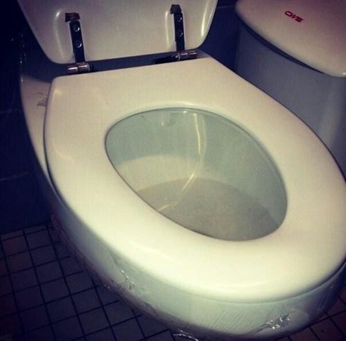 plastic wrap saran wrap toilet seat - 7170676736