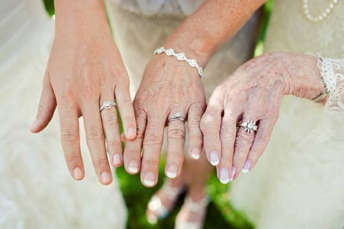 wedding rings,generations,brides