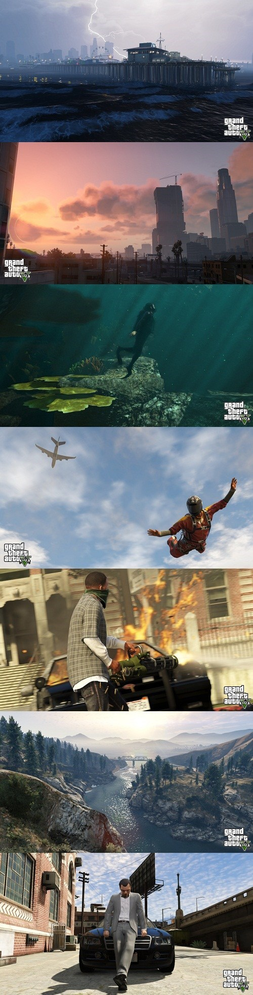 grand theft auto v screenshots video games Rockstar Games