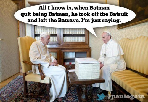 pope,batcave,batman