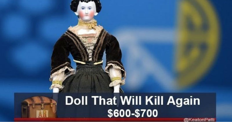 value alternative absurd doll strange bizarre antiques roadshow silly caption antique funny stupid lamp rug jokes - 7171589