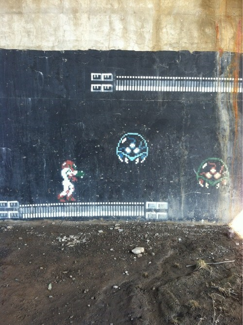 art,Metroid,IRL,graffiti