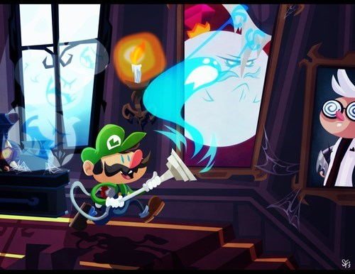art luigis-mansion nintendo - 7173666816