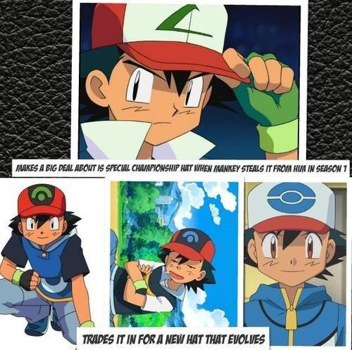 ash anime hats - 7173733376