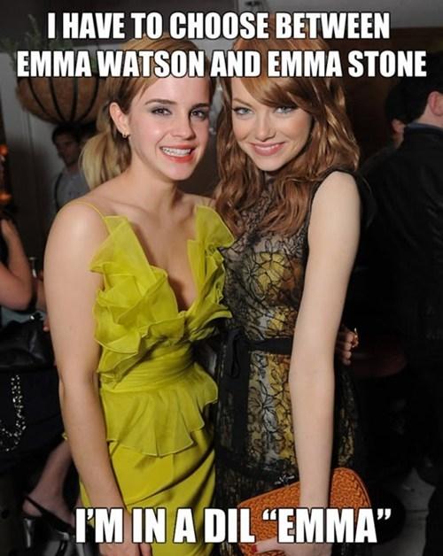 dilemma,emma stone,emma watson