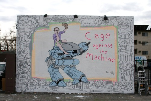 Street Art Hanksy nicolas cage celeb - 7174002688