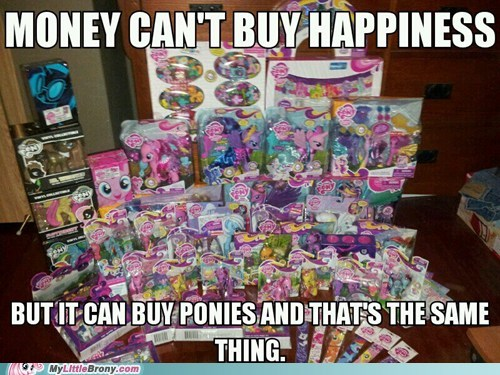 ponies toys merchandise money
