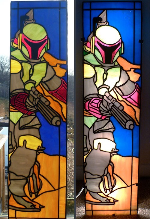 star wars,stained glass,nerdgasm,boba fett