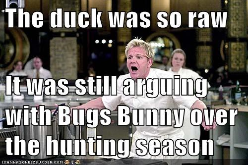 gordon ramsay,daffy duck