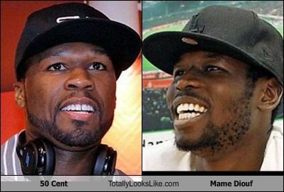 mame diouf,hats,totally looks like,50 cent