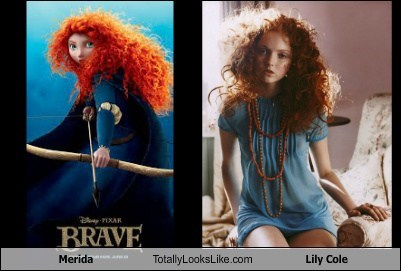 brave merida totally looks like Lily Cole - 7181465856
