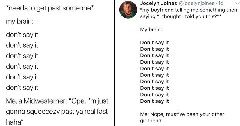 Funny twitter meme, 'don't say it'.