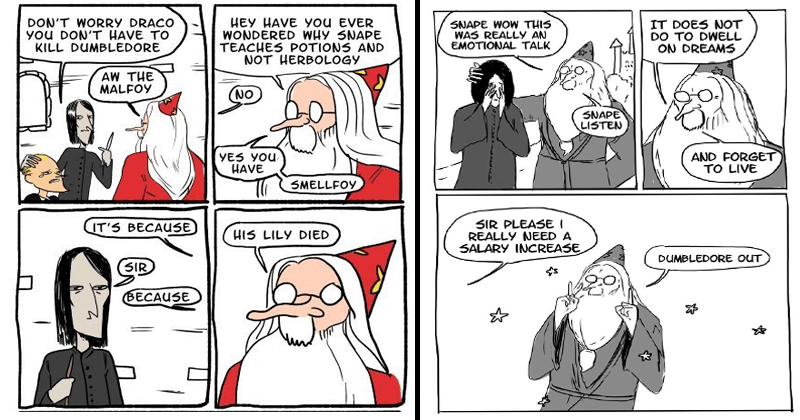 Funny comics about Dumbledore.