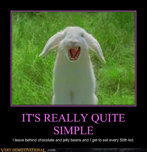 easter scary wtf bunny - 7184283904