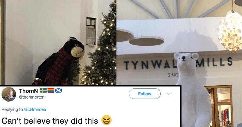 christmas twitter polar bear ridiculous reaction funny holidays - 7185157