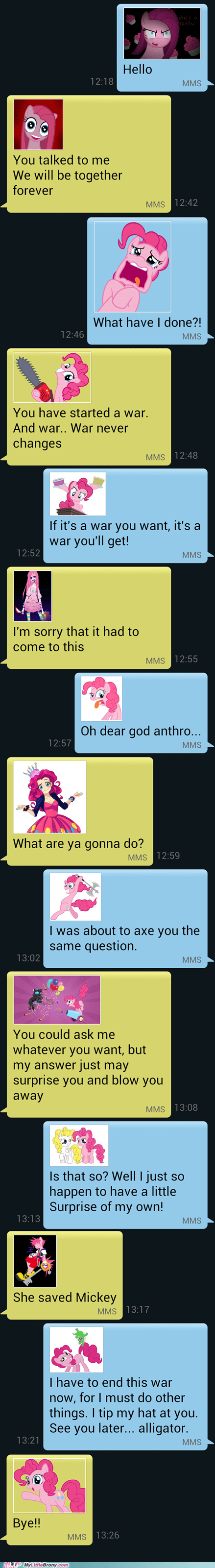 war,pinkamena diane pie,pinkie pie,texting