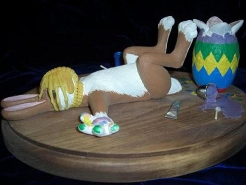 easter wtf face hugger bunny - 7185280512
