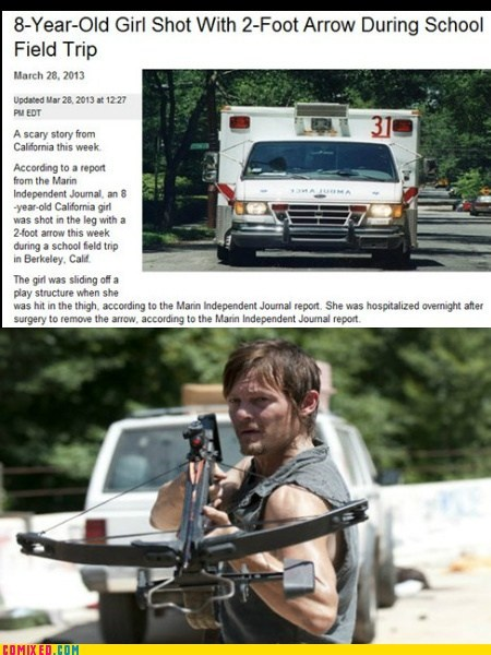 daryl dixon,crossbows,The Walking Dead,sad but true