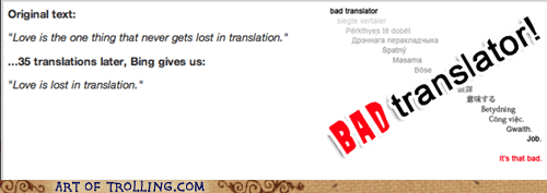 Bad Translator,lost in translation,irony