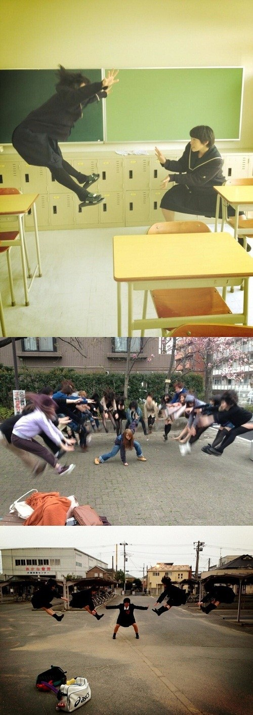 Japanese Students Fight Dragon Ball Style!
